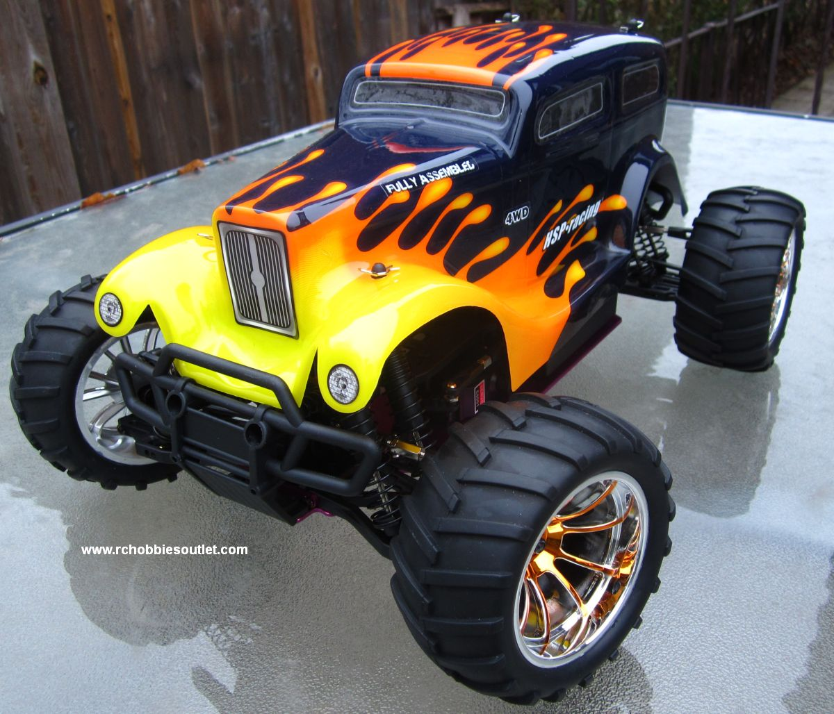 Hsp Rc Truck Nitro Gas Power Off Road Monster Truck 94188: RC NITRO GAS MONSTER TRUCK HSP 1/10 CAR 4WD RTR 88046